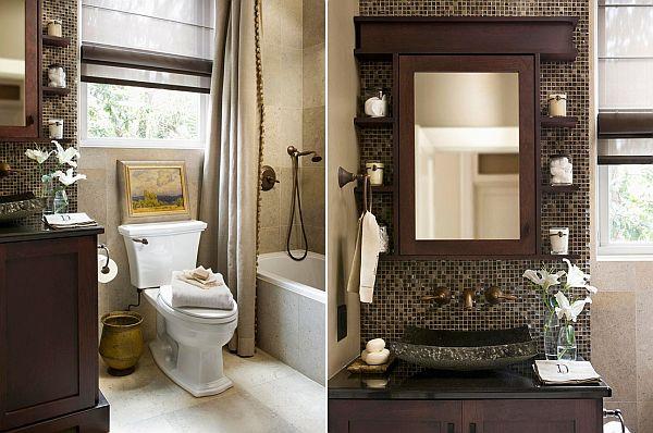 Two small bathroom design ideas colour schem