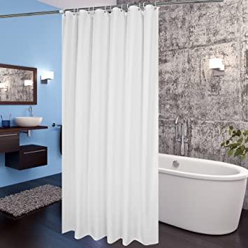 Amazon.com: AooHome White Fabric Shower Curtain Liner, Bathroom .