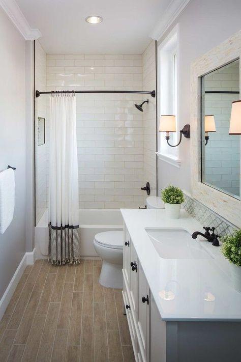 small bathroom makeover … | Small bathroom remodel, Bathroom .