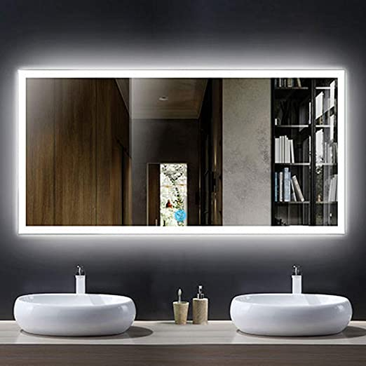 Amazon.com: DECORAPORT Horizontal LED Bathroom Mirror, Lighted .
