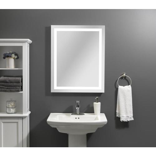 Home2O Helena 24-in LED Lit Mirror Rectangular Frameless Lighted .