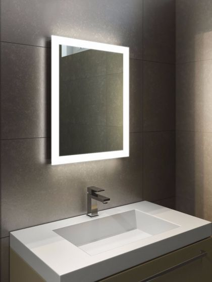 Halo Tall LED Light Bathroom Mirror | Bathroom mirror design .