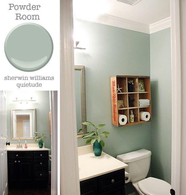 Guest bath paint idea | Small bathroom paint, Green bathroom paint .