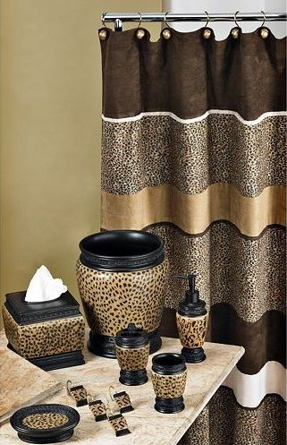 Cheetah bathroom set – Beautiful animal print for bathroom .