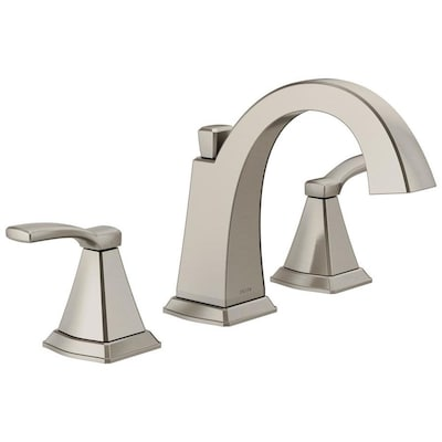 Delta Flynn Brushed Nickel 2-handle Widespread WaterSense Bathroom .