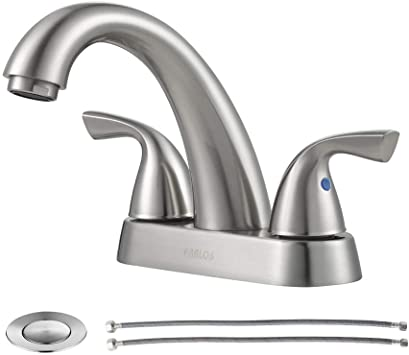 PARLOS 2-Handle Bathroom Sink Faucet with Drain Assembly and .