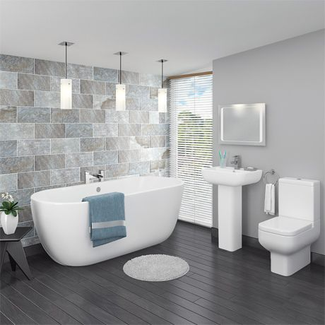 Pro 600 Modern Free Standing Bath Suite | Now At Victorian .