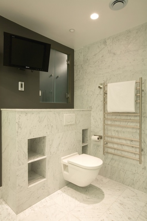 Bathroom TV Ideas - Contemporary - bathroom - Jodi Fost