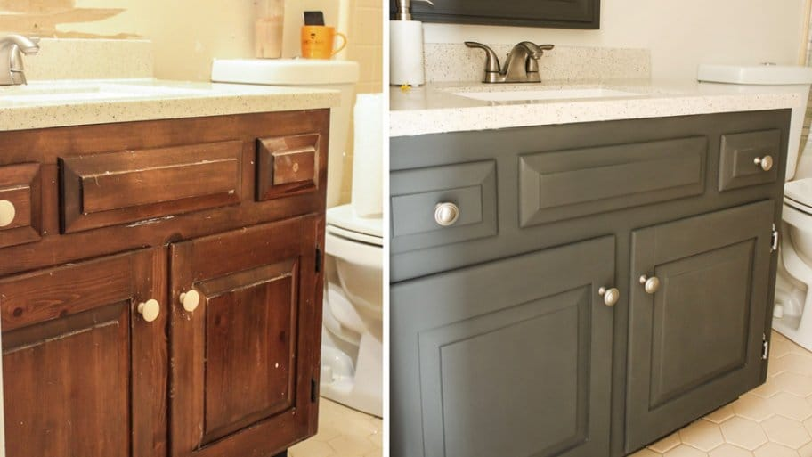 How to Paint a Bathroom Vanity | Angie's Li