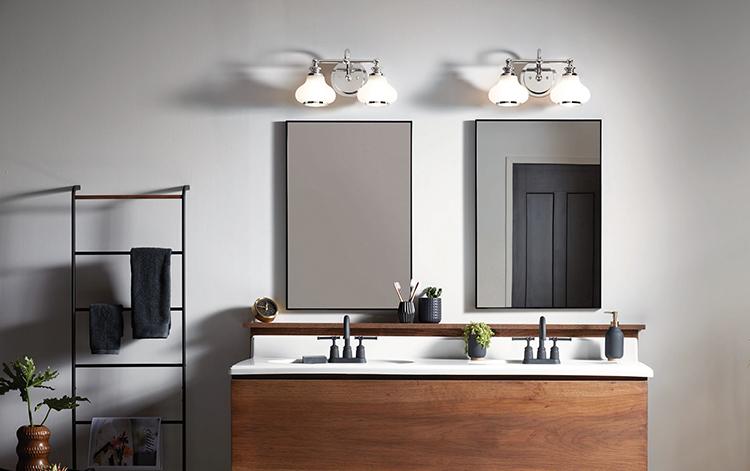 How to Choose Bathroom Vanity Lighting | Riverbend Ho