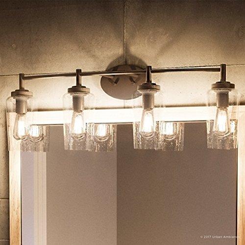 """Luxury Vintage Bathroom Vanity Light, Large Size: 10""""H x 32.5""""W ."""
