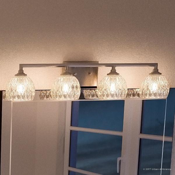 "Shop Luxury Crystal Bathroom Vanity Light, 6.25""H x 28""W, with ."