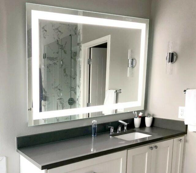 "Side-Lighted LED Bathroom Vanity Mirror: 36""W x 48""T - Rectangular ."