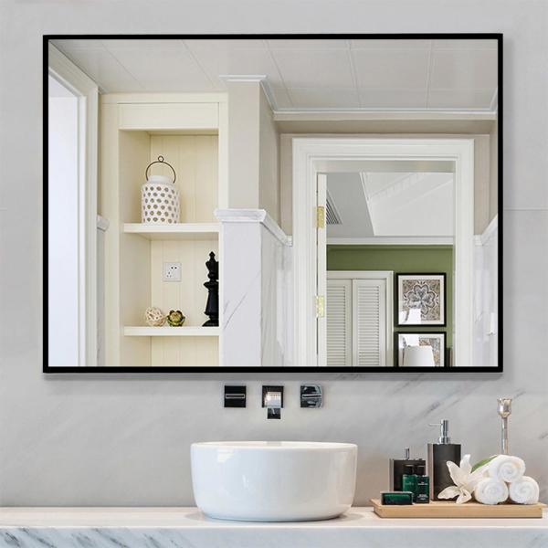 Neu-Type Rectangle Modern/Simple Bathroom Vanity Mirror Wall .
