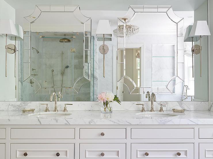 Mirror on Top of Vanity Mirror - Transitional - Bathro