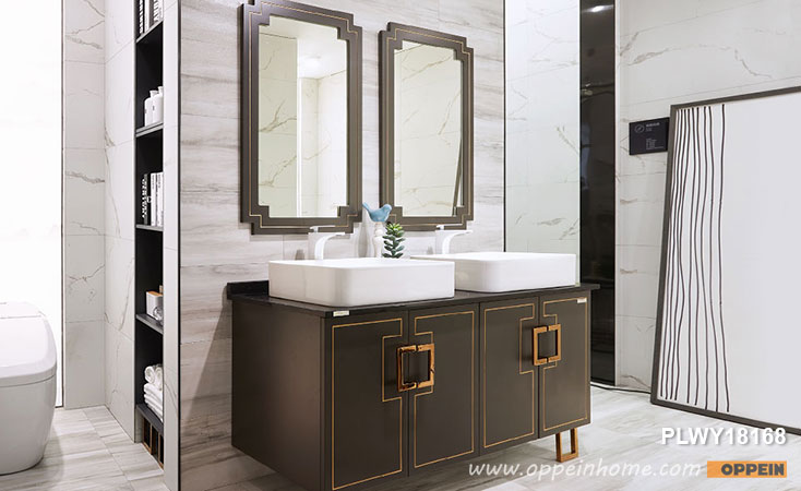 Double Sink Bathroom Vanity Units PLWY18168- OPPEIN | The Largest .