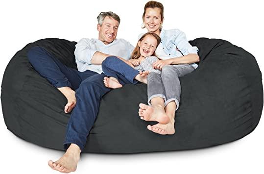 Amazon.com: Lumaland Luxury 7-Foot Bean Bag Chair with Microsuede .