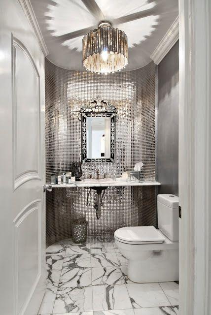 5 Glamorous Silver Bathrooms   Silver bathroom, Beautiful .