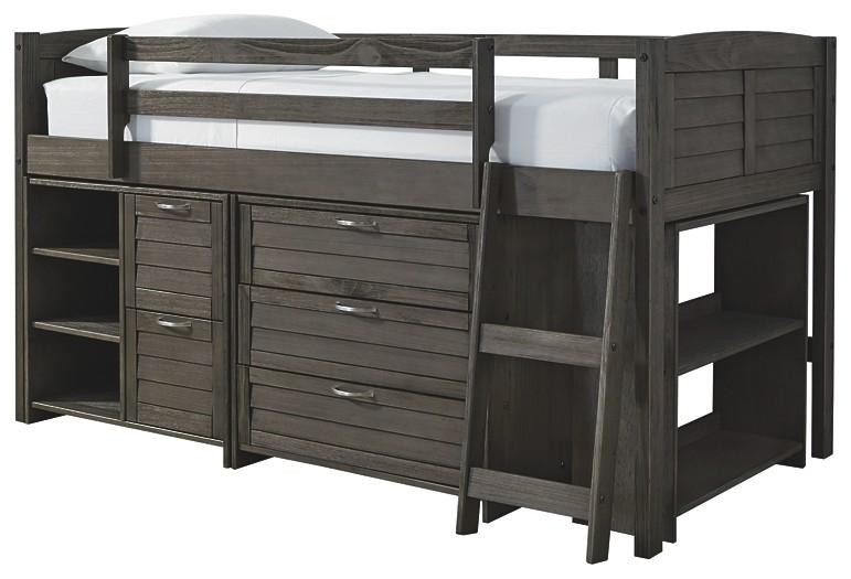 Caitbrook - Loft Under Bed Storage (3/CN) | B388-62B | Kids .