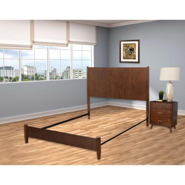HOLLYWOOD BED FRAME Black Adjustable Bedframe Headboard Footboard .