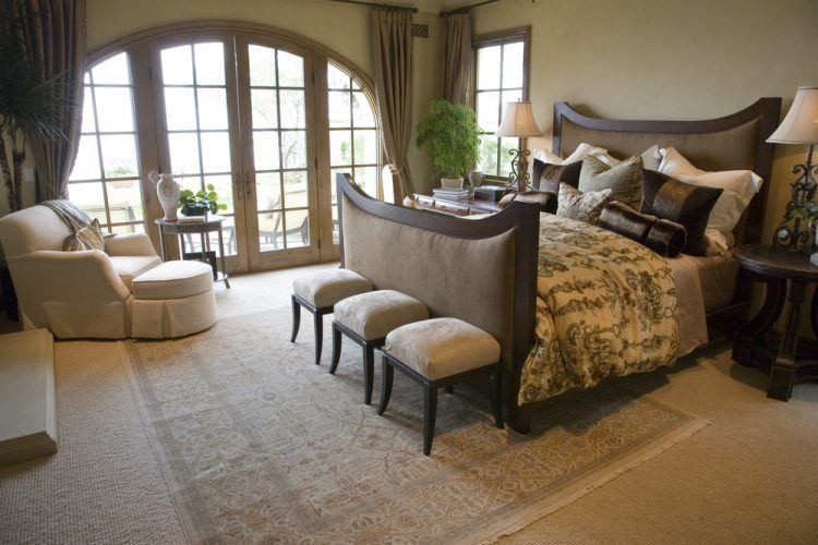 10 Beautiful Master Bedrooms with Accent Chai
