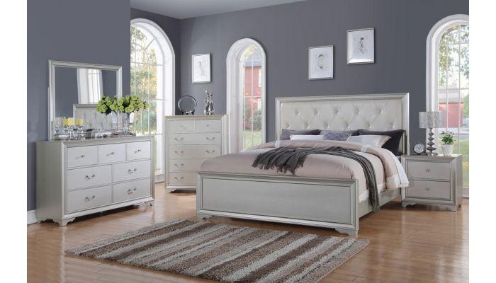 Allure Silver Finish Bedroom Furnitu