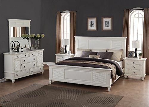 Roundhill Furniture Regitina 016 Bedroom Furniture Set, King Bed .