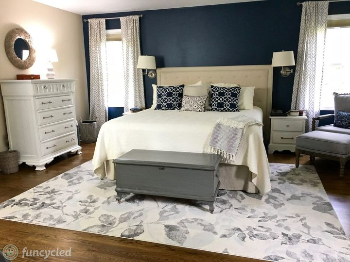 Transitional Master Bedroom Makeover | Hometa