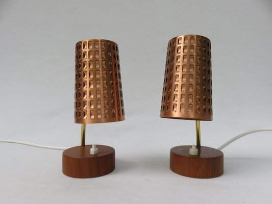 Scandinavian Bedside Lamps, 1950s, Set of 2 for sale at Pamo
