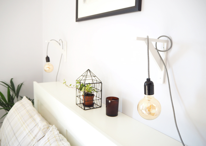 DIY | Make Your Own Pendant Bedside Lamps - Made Up Sty
