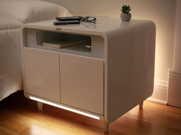 The Sobro smart side table wants to improve your bedside .