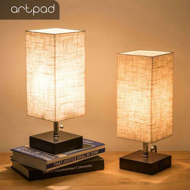 Online Shop Modern Design Bedside Table Lamps with USB Charging .