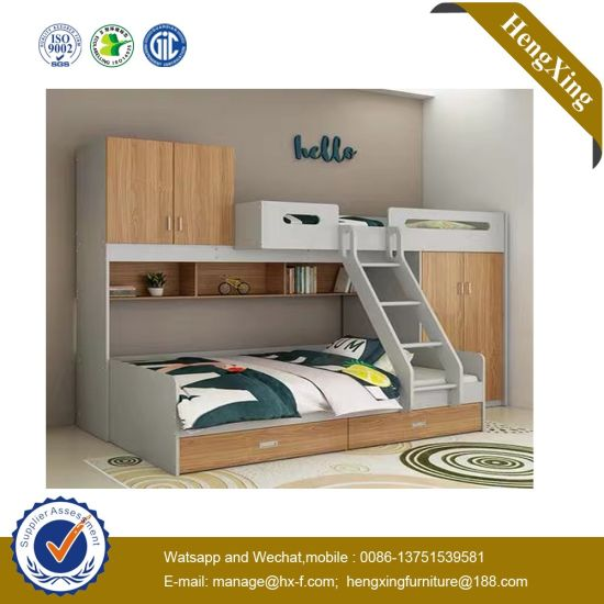 China Best Sell School Children Bedroom Furniture MDF MFC Bunk .