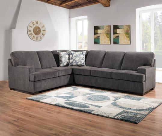 Lane Home Solutions Kasan Gray Sectional | Big Lo