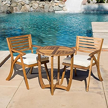 Amazon.com : Patio Furniture Sets, Outdoor Bistro Sets, Brown .