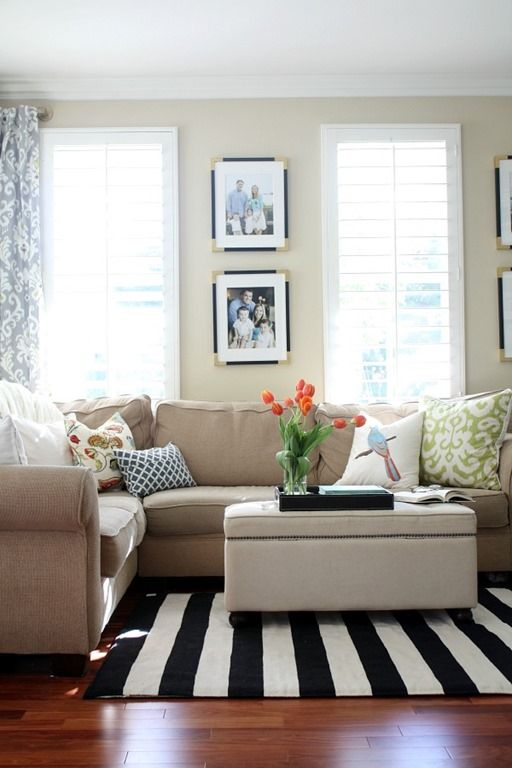 A New Living Room Rug: Stripes for the Win | Rugs in living room .