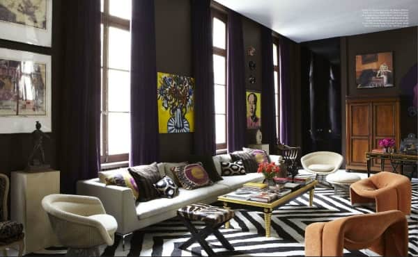Black and white rugs decor