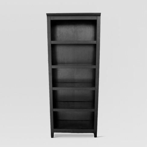 """Carson 72"""" 5 Shelf Bookcase - Black - Threshold™ : Targ"""