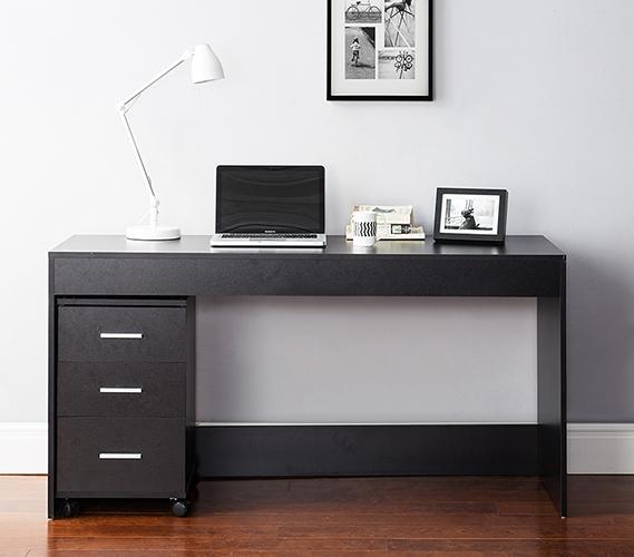 Yak About It Simple Style Work Desk - Bla