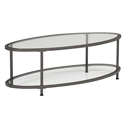 Oval Glass Coffee Table: Amazon.c