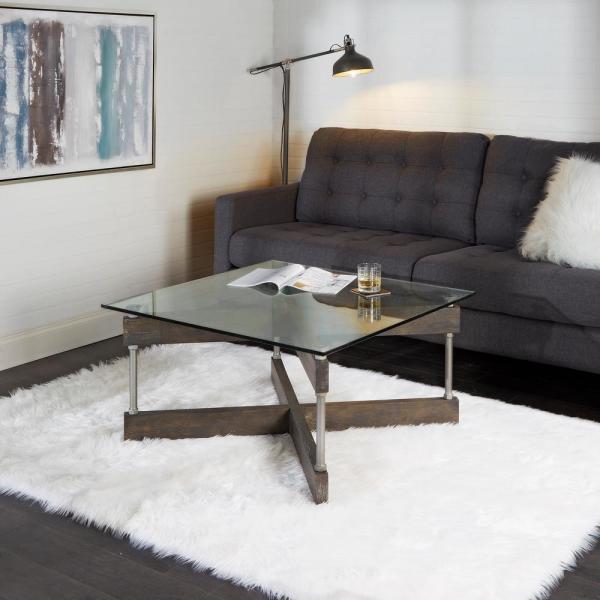 Silverwood Furniture Reimagined Garth x Beam Black Square Glass .