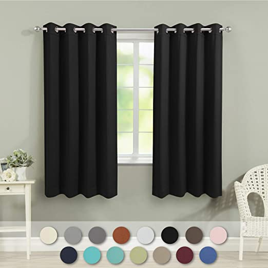 Amazon.com: VEEYOO Bedroom Blackout Curtains Panels Grommet .