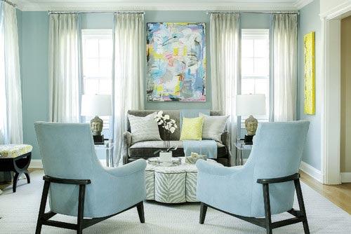 75 Inspiring Blue Living Room Photos | Shutterf