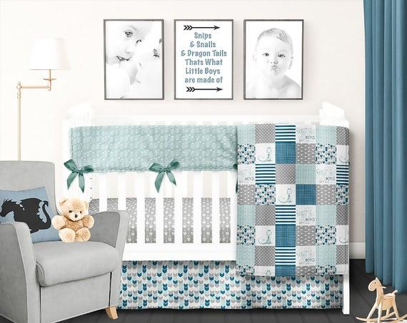 Dragon Crib Bedding Set Dragon Baby Blanket Boy Crib Bedding | Et