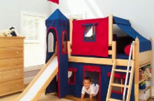 Bunk Beds With Slides for Children | Bunk bed with slide, Kids .