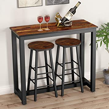 Amazon.com - Tribesigns 3-Piece Pub Dining Table Set, Counter .