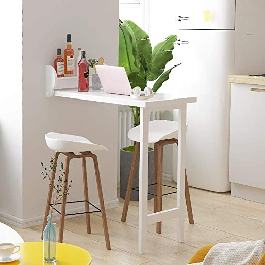 Amazon.com - Bar table Wall Mounted Kitchen Breakfast Bar Table .