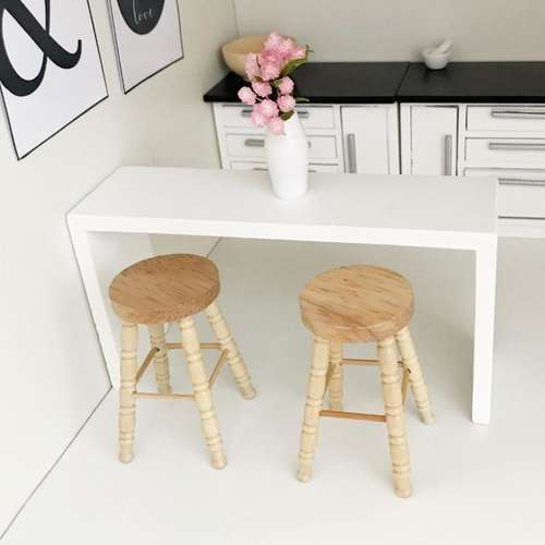 Pretty Little Minis - modern white breakfast bar for your .