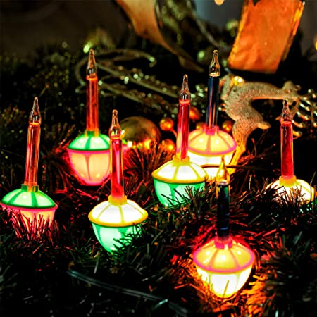 Amazon.com : HAYATA 7 Count Color Christmas Bubble Lights - 6.6ft .