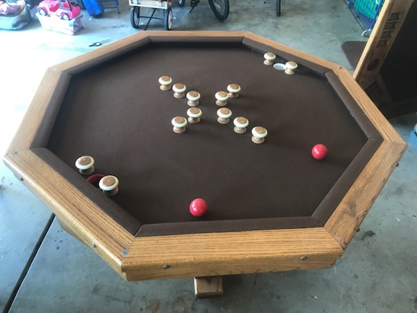 Used ACME bumper pool table with poker table top for sale in .
